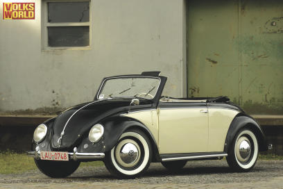 A stunning example of a covertible VW Beetle